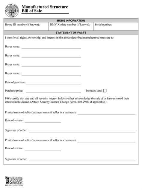 Download Oregon Bill Of Sale Form For Free Formtemplate Bill Of Sale Template Oregon