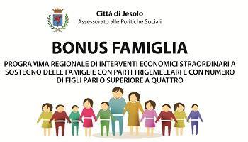 bonus famiglia 2016 bonus famiglia 2016 comune di jesolo
