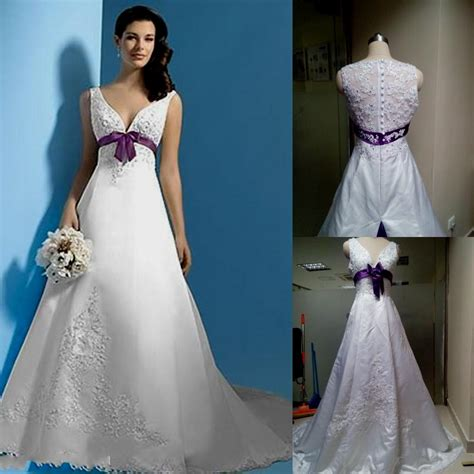 Purple Wedding Dress by White And Purple Wedding Dress Naf Dresses