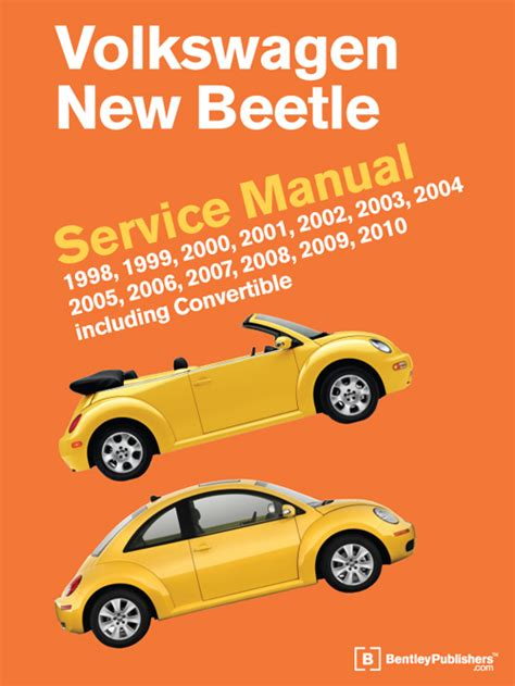 book repair manual 2008 volkswagen new beetle electronic toll collection front cover vw volkswagen new beetle service manual 1998 2010 bentley publishers repair