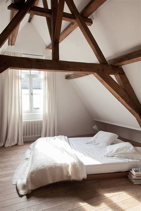 exposed wood beams picture of chic bedroom designs with exposed wooden beams 15