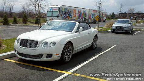 bentley canada bentley continental spotted in boucherville canada on 05
