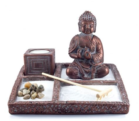 Garden Accessories Gifts Zen Garden Buddha Statue Mini Zen Garden Office