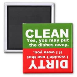 Dishwasher Clean Sign Clean Dishwasher Magnet Zazzle