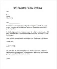 Real Estate Sle Letter by 69 Thank You Letter Exles