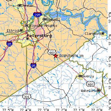 Waverly Virginia Map by Disputanta Virginia Va Population Data Races