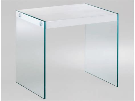 Nachttisch Glas Rund by Beistelltisch Glas 40x35 Tischplatte Wei 223 Hochglanz