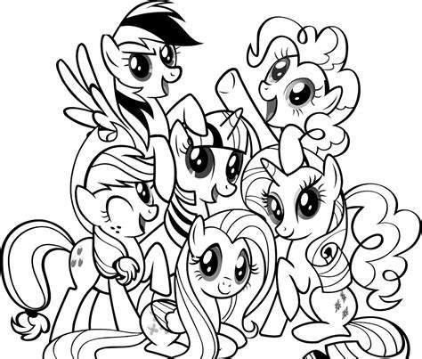 Photos Character My Little Pony Coloring Pages My Little My Pony Characters Coloring Pages