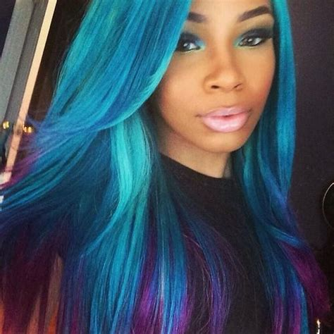 black women hairstyles sewing color purple 48 best images about hair on pinterest teal hair pastel