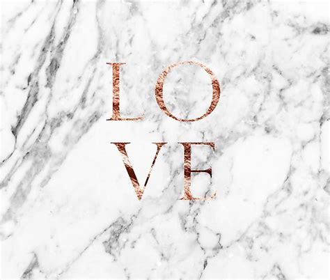 """""""Rose gold marble LOVE"""" Posters by peggieprints   Redbubble"""