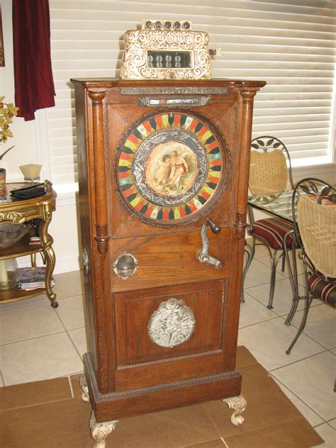 caille puritan upright  cent slot machine gameroom show