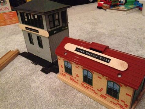 diy train station signs   childs