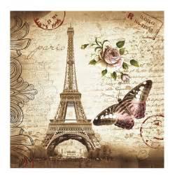 imagenes retro de la torre eiffel 180 x 180 waterproof fabric retro eiffel tower butterfly