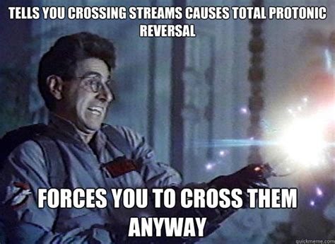 Total Protonic Reversal by Tells You Crossing Streams Causes Total Protonic Reversal