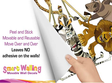 madagascar wall stickers madagascar wall stickers totally movable ebay