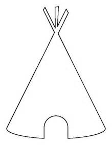 Teepee Template teepee pattern use the printable outline for crafts