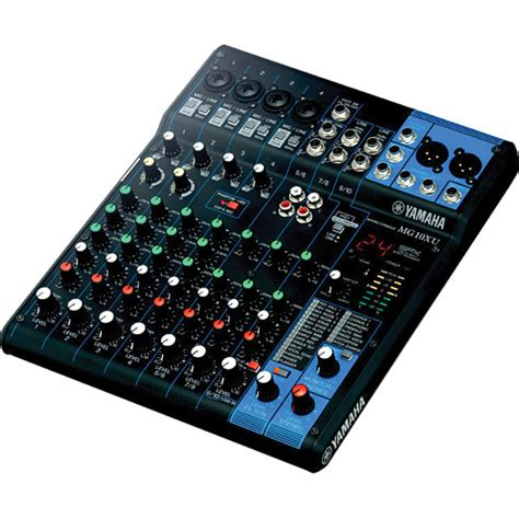 Daftar Audio Mixer Built Up yamaha mg10xu 10 input mixer with built in fx and mg10xu b h