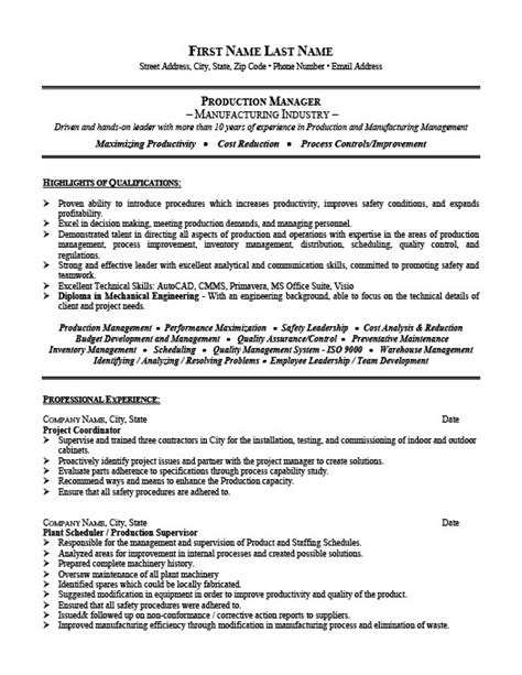 Project Manager Resume Templates by Project Manager Resume Template Premium Resume Sles