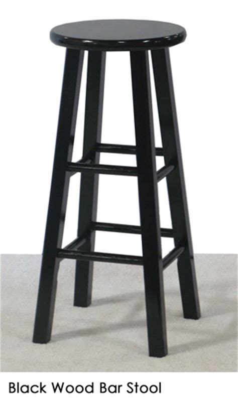 Black Wooden Bar Stool Black Wood Bar Stool Town Country Event Rentals