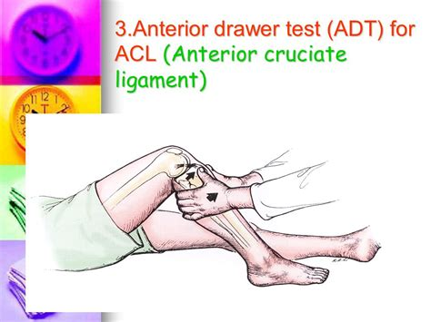 Acl Drawer Test by 7 Knee Injury Diagnosis Ppt