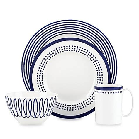 kate spade dinnerware kate spade new york east dinnerware collection in indigo bed bath beyond