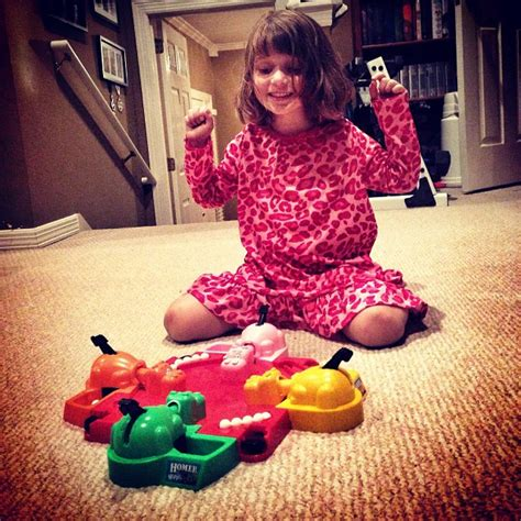 hungry before bed playing a little hungry hungry hippo with sara before bed running with team agee