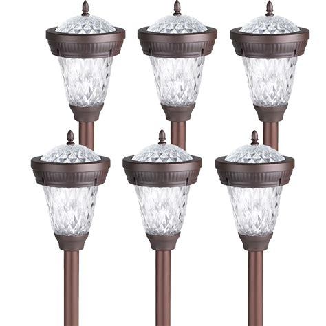 Bronze Solar Lights 6 Pack Westinghouse Bastille Ii Solar Outdoor Garden Stake
