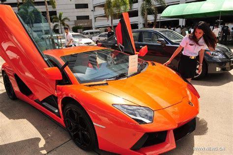 lamborghini price in thailand thai customs showcase smuggled luxury cars s