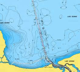 lake george topographical topo map with lake bottom