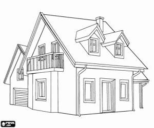 Desenho De Casas Casas Con Jardin Colouring Pages