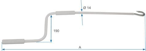 accessori per tende da ceggio aste di manovra per tende da sole progettazione