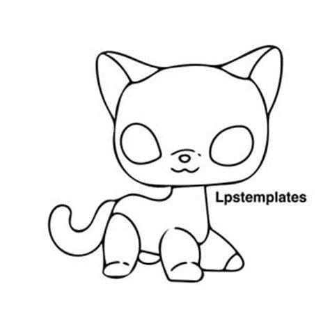 coloring pages lps shorthair cats coloring pages