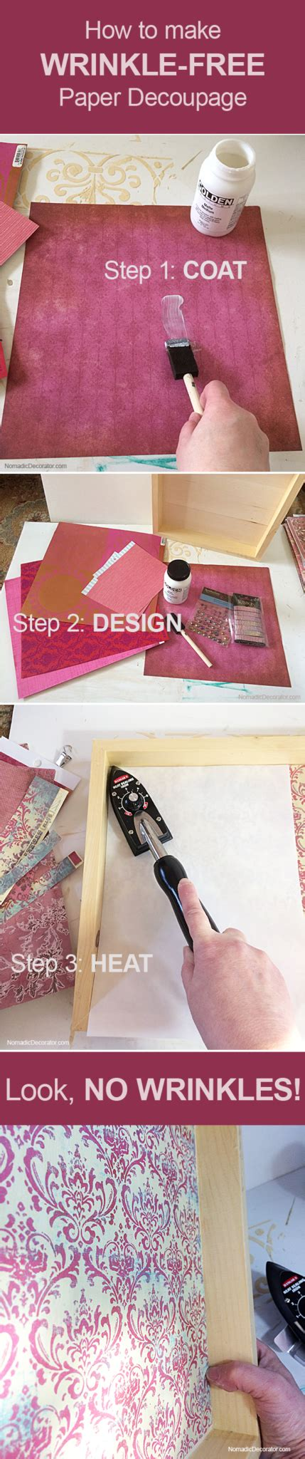 how to make decoupage medium diy tutorial how to make wrinkle free paper decoupage