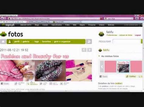 mudar layout youtube como mudar o estilo design de um blog do sapo youtube