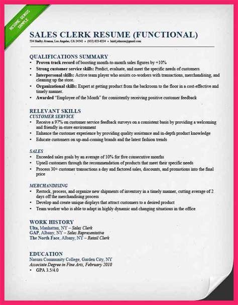 sle clerk resume 28 images retail sales clerk resume