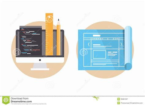 icon design project website programming and development icons royalty free