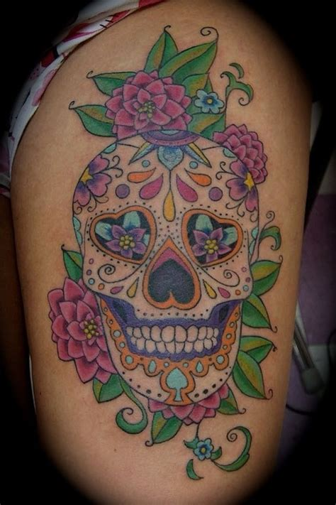 feminine skull tattoos girly skull tattoos sugar skull
