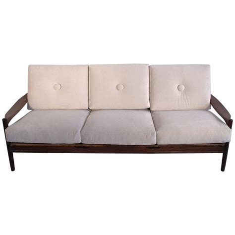 white wood frame sofa scandinavian modern style three seat white sofa with