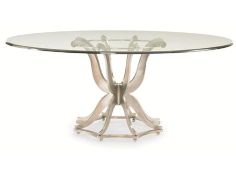 steel dining table glass century furniture dining room metal base dining table with glass top
