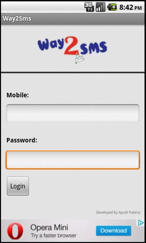 free sms to mobile india way2sms android app free apk by webelligence