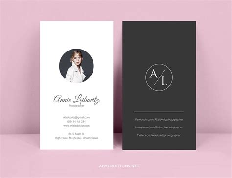 Custom Card Template by Premade Business Card Template Name Card Template