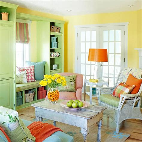 bright colored living rooms living room yellow walls simple home decoration