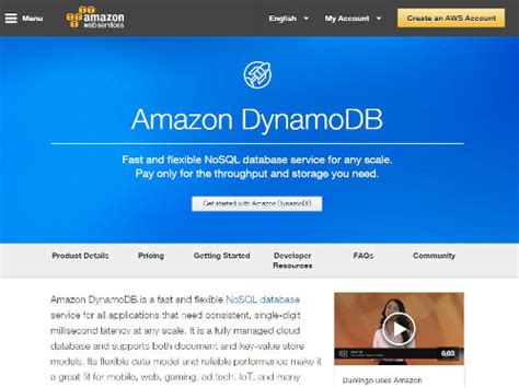 amazon dynamodb 10 cloud databases for developers developer com