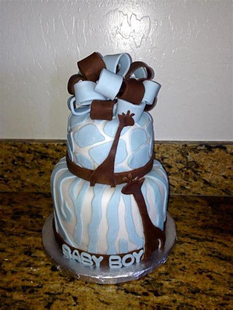 Blue Safari Baby Shower Cake by Blue Safari Theme Giraffe Baby Shower Cake Cakecentral