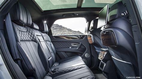 bentley bentayga interior 2017 bentley bentayga interior rear seats hd