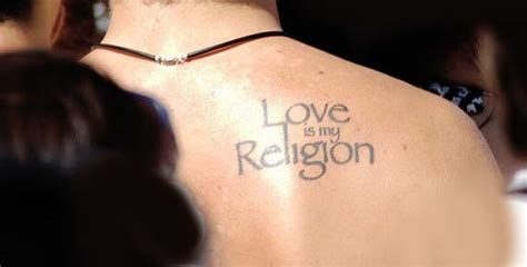 tattoo shoulder text love is religion text tattoo for back shoulder sheplanet