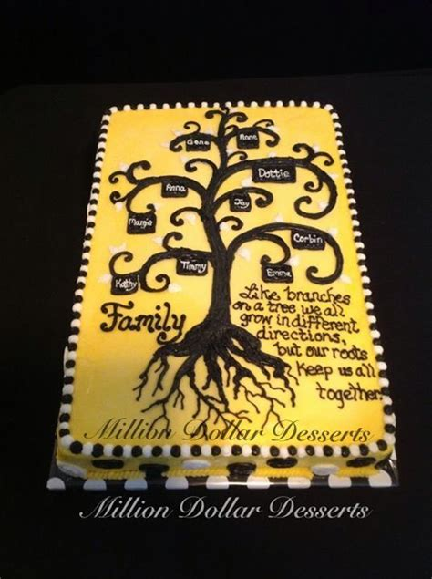 Family Tree Cake Milliondollardesserts Sheet Cakes
