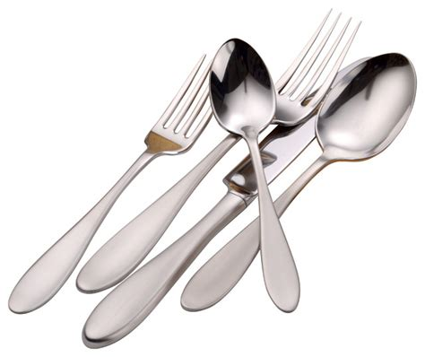 modern flatware sets mallory serving set 65 piece modern flatware and