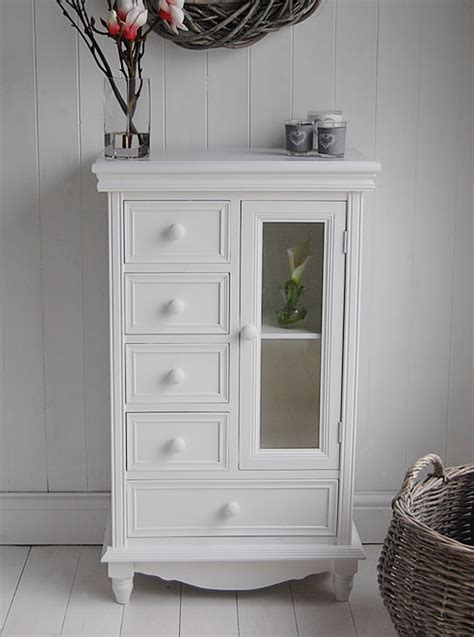 Bathroom Drawers White by Storage Cabinet With Glass Doors Homesfeed