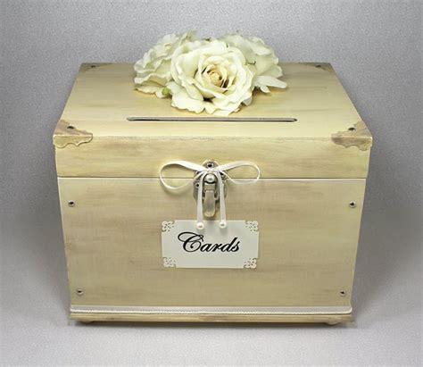 chic wedding card box ivory wooden wedding card box trunk vintage shabby chic